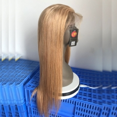 Merry Hair Color 27# Full Lace Wig Straight Hair With Baby Hair
