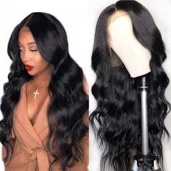 Body Wave 360 Lace Front Wig 180% Density Bleached Knots Natural Headline Glueless Pre Plucked Hairline