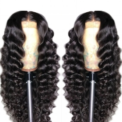 New Arrival Natural Wave  Lace Front Wig No Shedding No Tangle Remy Human Hair Wigs With Baby Hair
