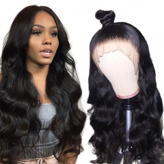 Body Wave Transparent Lace Front Wig Average Size Suitable Dying Colors Natural Headline No Shedding No Tangle