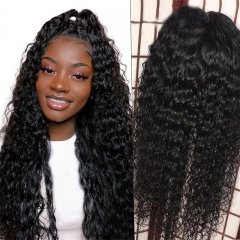 360 New Curl 13x6 Lace Front Wig 130 150 180 300 Density With Baby Hair Pre Plucked Hairline Natural Headline