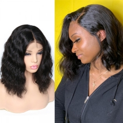 Summer Hair Colors For Black Females Short HairStyles Body Wave Middle, Side Part Bob Lace Wig