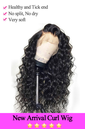 New Arrival Curl Lace Front Wig 130 150 300 Density Human Hair Wigs Remy Brazilian Wig For Black Woman