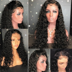 HD Transparent Lace Wig Glueless Water Wave Lace Front Wigs 150, 180, 300 Density 13x4 Inch Human Hair Wig