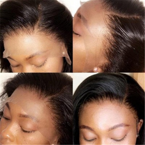 Transparent Lace Full Lace Wig Straight With Baby Hair Natural Headline Swiss Lace