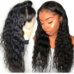 Water Wave 360 Lace Front Wig 180% Density With Baby Hair Pre Plucked Hairline No Chemical Processing Natural Headline