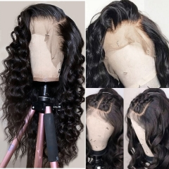 Loose Wave 360 Lace Front Wig 180% Density Pre Plucked Hairline Remy Hair