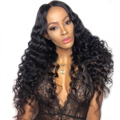 13x6 Lace Front Wig Natural Wave Wavy Suitable Dying Colors Glueless No Chemical Processing Pre Plucked Hairline