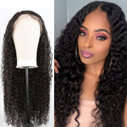 Kinky Curly Lace Front Wig No Shedding No Tangle Remy Hair No Chemical Processing Pre Plucked Hairline