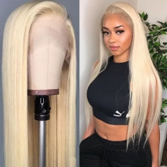 Blonde #613 Color Straight 360 Lace Wig Adjustable Fits Perftecly Around Your Ears Lace Front Wig