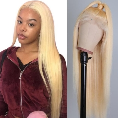 Best 613 Wigs Cheap 613 Color Blonde Lace Front Wig Straight Human Hair Wig