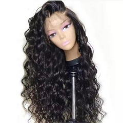 Natural Wave Wavy 360 Lace Front Wig 180% Density No Shedding No Tangle Natural Headline No Chemical Processing With Baby Hair