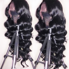 Full Lace Wig Loose Wave Average Size Remy Hair Natural Color 130%,180% Density