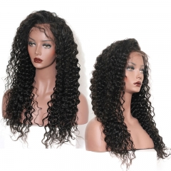 Merry Hair No Tangle Transparent Lace Full Lace Wig 100% Human Hair Wig Deep Curl With Swiss Lace