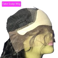 Straight Fake Scalp Lace Front Wig Body Wave Fake Scalp Human Hair Wigs