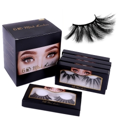 New Design 100% Hand Made New Material 6D 25mm Faux Mink Eyelashes With Eyelash Packaging Box