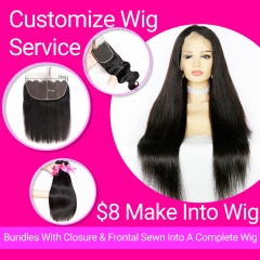 [Custom Wig Orders] Custom Made Hair Wig Handicraft Fee