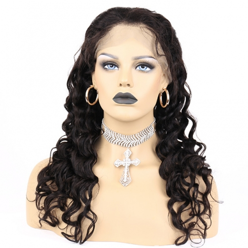 MERRYHAIR Wet And Wavy Human Hair 4x4 Inch Lace Closure Human Hair Wigs