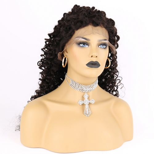 Human Hair Jerry Curl Full Lace Closure Wig With Baby Hair For Black Women