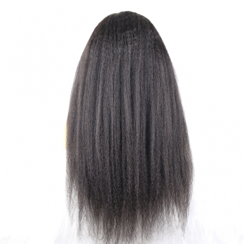 Kinky Straight T Part Wig 13x1 150% Human Hair Wigs For Women