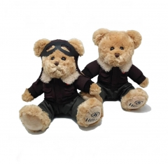 Pilot stuffed teddy bear