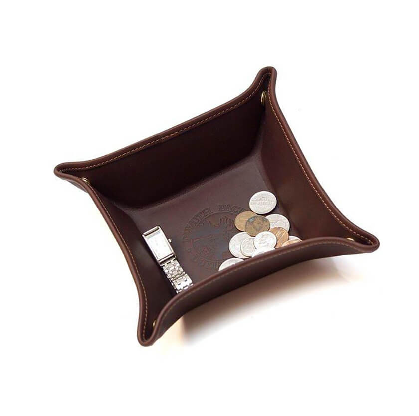 Leather sundries tray