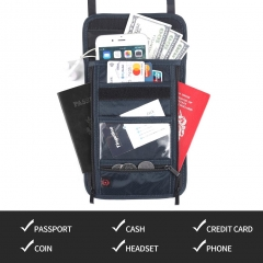 Travel RFID anti-theft document bag passport clip