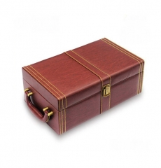 Leather Wine Boxes Double Bottle of Wine Gift Box
