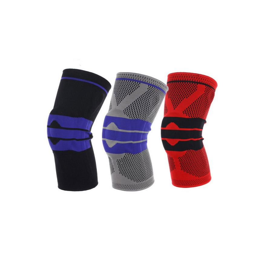 Silica-Elastic-Basketball-Volleyball-Knee-Compression-Sleeve