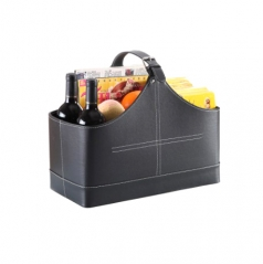 Leather storage baskets for gift baskets/picnic ba...