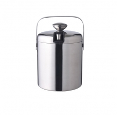 Double insulation stainless steel ice bucket and i...