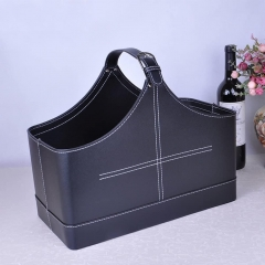 Leather Storage Baskets for Gift/Picnic
