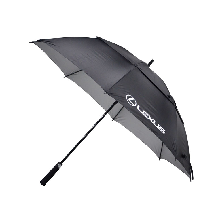 Straight Pole Automatic Opening Windproof AD Golf Umbrella with UV Protection