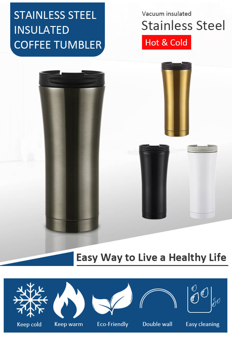 Double Wall Stainless Steel Insulated Coffee Mug