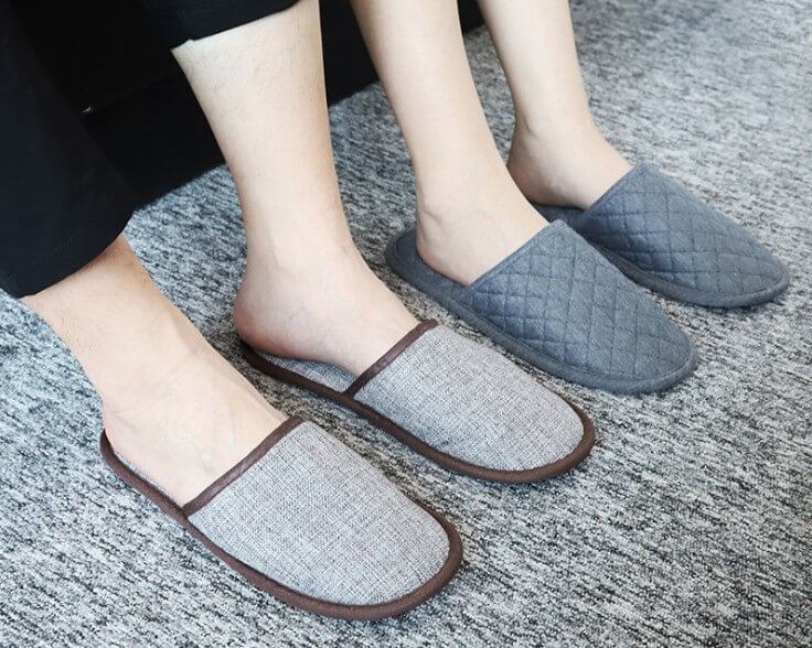 Foldable Hotel Slippers for Travel and Home