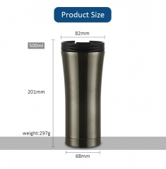 Double Walled Stainless Steel Coffee Thermos Insulated Metal Thermos Cup 500ml