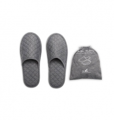 Cotton Foldable Hotel Slippers for Travel and Home