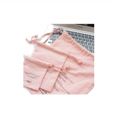 Pink Soft Cloth Drawstring Bag for Jewelry