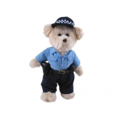 Constable Dressed Teddy Bear Soft Toy