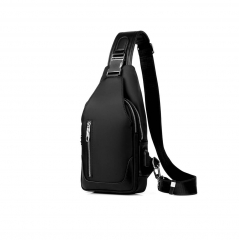 Sling Chest Bag with USB Charging Port Waterproof ...