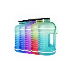 1 Gallon Water Bottle Wide Mouth with Straw & Time...