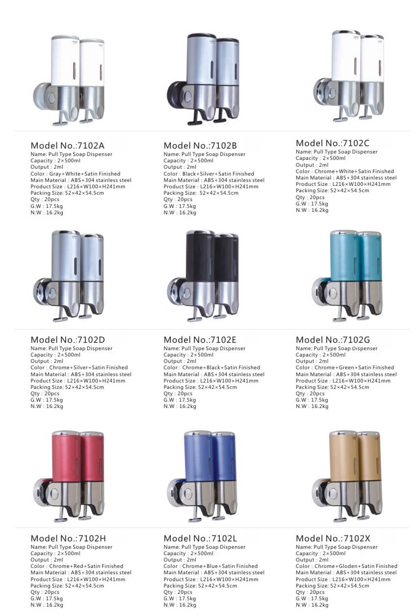 Wall Mounted Soap Dispenser Color Options