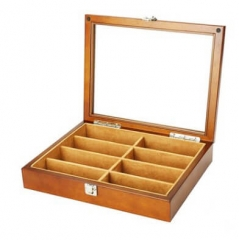 Solid Wood Multilayer Board Jewelry Box 8 Grids Glasses Case High Quality Packaging Box