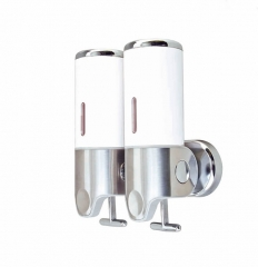 Double Head Pull Type Wall Mounted Soap Dispenser in 304 Stainless Steel