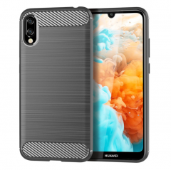 Carbon Fiber Brushed TPU Cell Phone Case丨For Huawei Y6 Pro 2019丨1.5mm Ultra Thin...