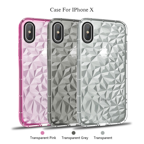 Diamond Pattern Transparent TPU Phone Case with Saw Edge 丨Bayer TPU material from Germany 丨Rhombic Hyaline Phone Case