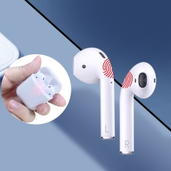 TWS i20 Wireless Airpods with Cuboid Charging Case with Bluetooth 5.0 Binaural Call