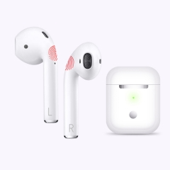 TWS i19 Wireless Bluetooth Earphones, 5.0 Smart Fingerprint Touch 丨 With Indicator Light 丨Activate Siri for Bilateral Call