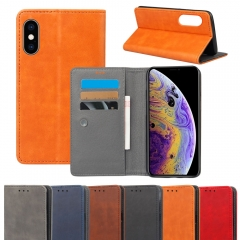 Crazy Horse Leather Flip Cover Case for Samsung / iPhone / Most Phones丨 Wallet Style/Multiple Function Phone Case