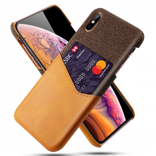 Premium PU Leather and Cloth Card Pocket Design Fashion Case丨 Protective Case  for Samsung / iPhone / Most Phones